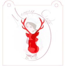 Stencil Deer Head Silhouette by Maman Gato & Cie