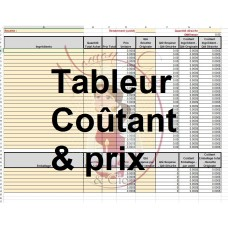 Excel Spreadsheet Cost & Pricing (in french) by Maman Gato & Cie