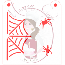 Stencil Spiders & Web by Maman Gato & Cie