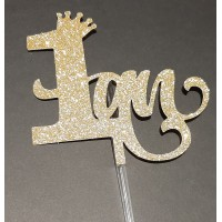 ''1 an'' Princess Crown Cake Topper by Maman Gato & Cie