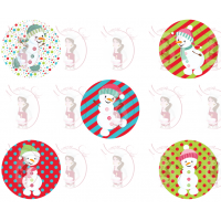 Cupcake Toppers - Snowman by Maman Gato & Cie