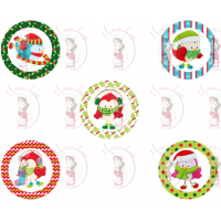 Cupcake Toppers - Christmas Pingouins by Maman Gato & Cie