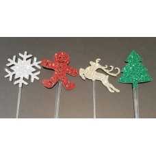 Cupcake Topper Christmas Mix by Maman Gato & Cie