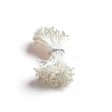 Flower Stamens - white pearlized