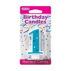 1st Birthday Blue Candle by Culpitt