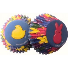 Mini Paper Baking Cups Chicks & Bunnies Peeps by Wilton