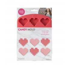 Rosanna Pansino Silicone Heart Candy Mold, 12-Cavity by Wilton