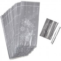 Standard Treat Bag Snowflakes with ties by Wilton