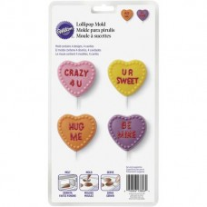 Conversation Hearts Candy Lollipop Mold by Wilton