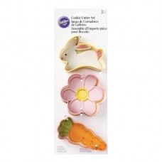 Cookie Cutter Set - Easter - Bunny, Flower and Carrot by Wilton