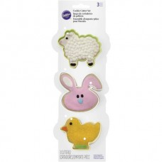 Cookie Cutter Set - Easter - Sheep, Bunny and Chick by Wilton
