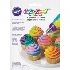 Color Swirl 3-Color Coupler by Wilton