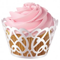 Cupcake Wrapper Swirl Pearl White by Wilton