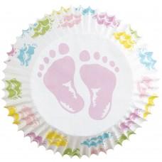 Caissette en papier Pieds de Bébé de Wilton