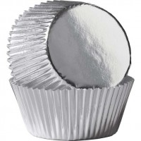 Foil Cupcake Liners - Silver by Wilton