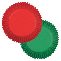 Paper Baking Cups Red and green by Wilton