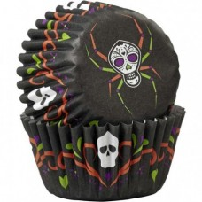 Mini Paper Baking Cups Day of the dead Spider by Wilton