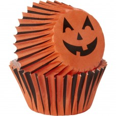 Mini Paper Baking Cups Jack-o-lantern by Wilton