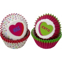 Mini Paper Baking Cups Conversation Hearts by Wilton
