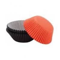 Paper Baking Cups Orange and Black by Wilton