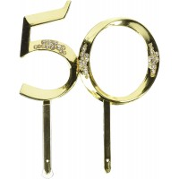 50th Anniversary Gold Pick by Wilton