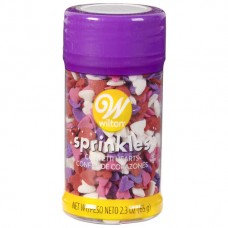 Edible Confetti Hearts Sprinkles - Red, Pink, Purple and White by Wilton
