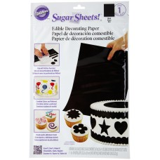 Sugar Sheets Black Edible Decorating Paper by Wilton