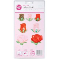 Roses & Buds Lollipop Mold by Wilton