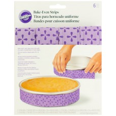 6 Strips Bake-Even Strips by Wilton