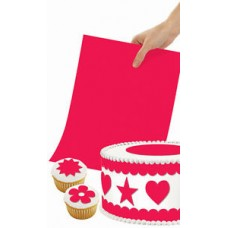 Papier de décoration rouge comestible par Wilton