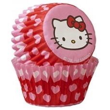 Mini Paper Baking Cups Hello Kitty with Hearts by Wilton